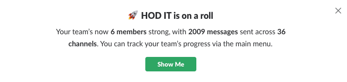 Team communication is key, and as you can see, we use chat a lot about our projects and challenges on Slack