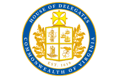 The formal House of Delegates Seal presented in all printed and electronic ephemera for the House of Delegate Clerk's Office and House Membership - Additional art direction by George W. Bishop, IV.